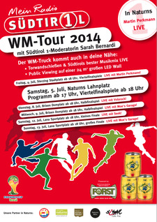 Südtirol 1 WM Tour 2014 - 5. Juli in Naturns